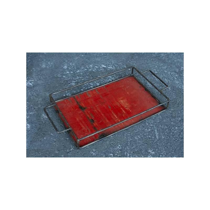 Plateau - couleur rouge