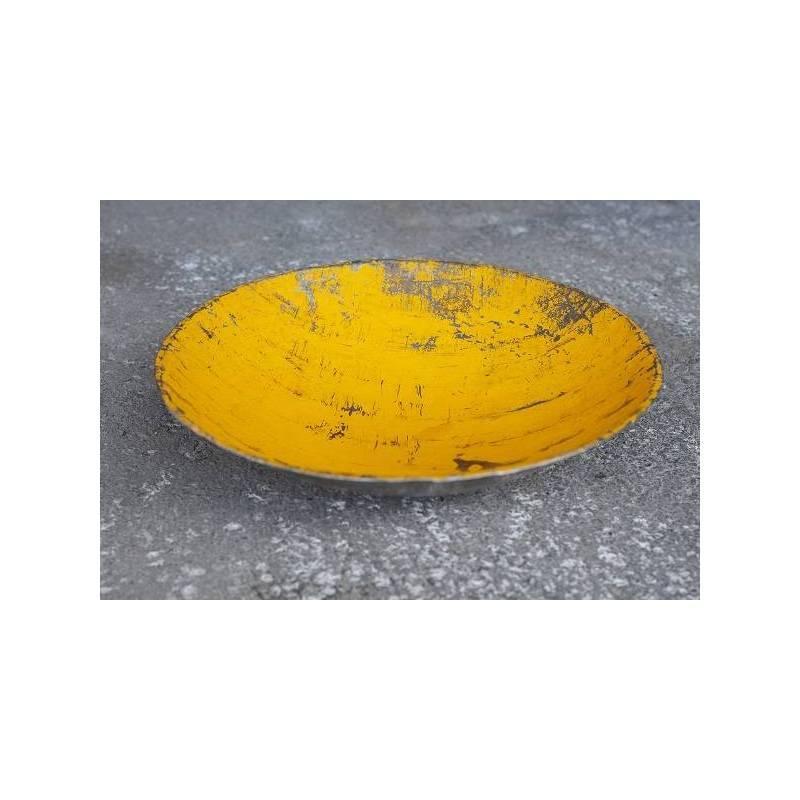 Plats en barils de pétrole recyclés - couleur jaune