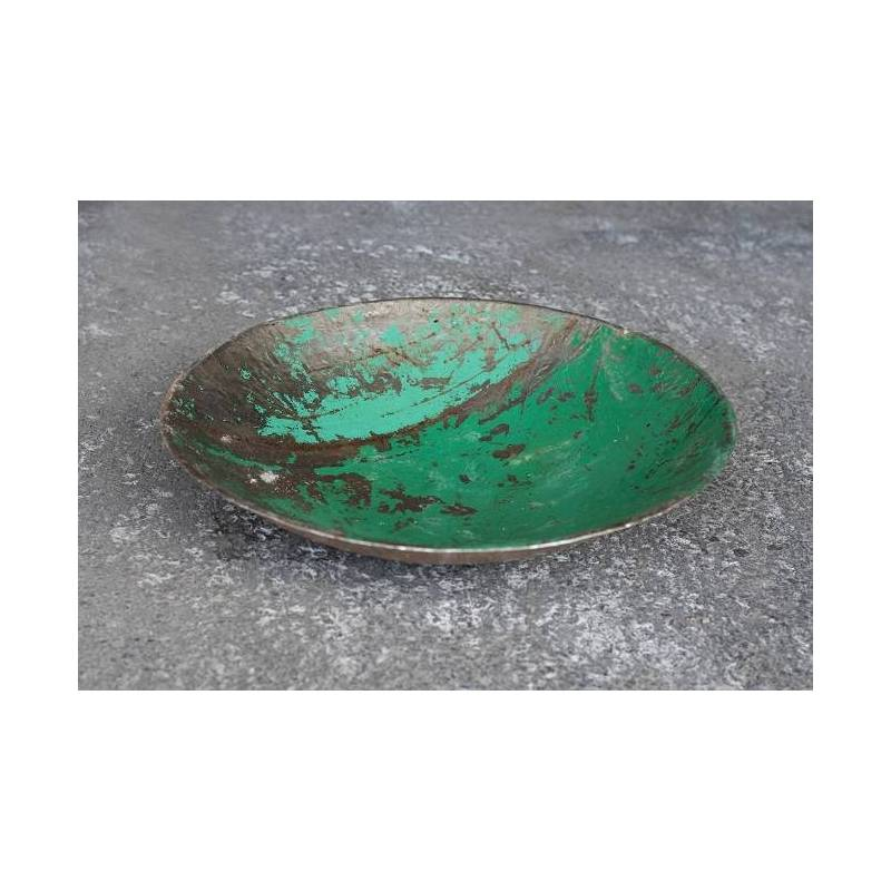 Plats en barils de pétrole recyclés - couleur vert