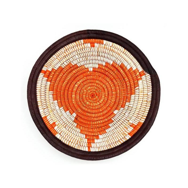 Plateau en osier - couleur orange