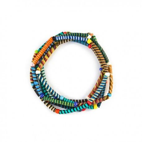 Bracelets Magic En Perles Et Plastique Recycle Bracelets La