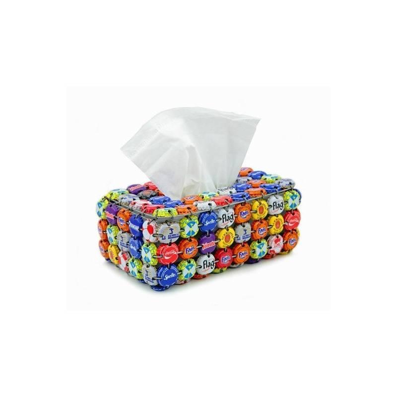 Boîte à Kleenex en capsules de bouteilles
