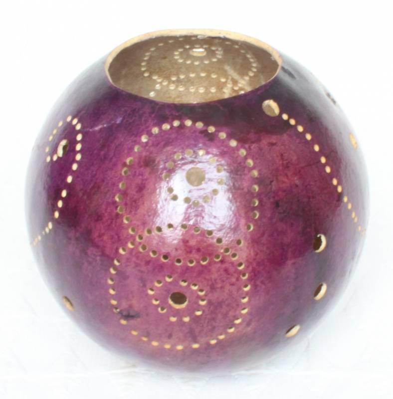 Photophores en calebasse - couleur violet