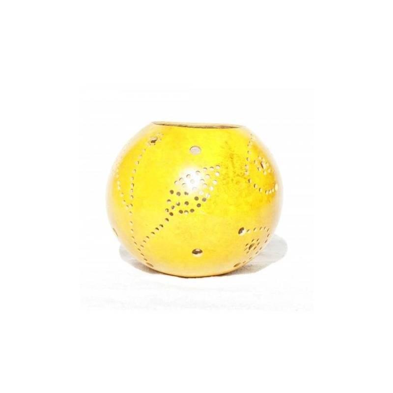 Photophores en calebasse - couleur jaune