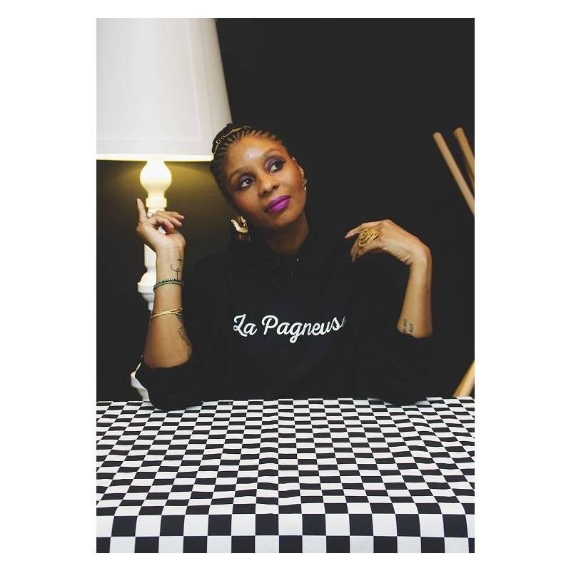 Sweat-shirt à capuche LA PAGNEUSE - Collection Afrikanista