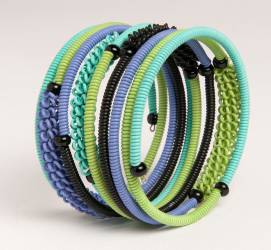 Bracelet Spiral double en fil de téléphone