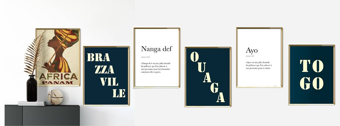 Ylanga, des affiches murales de voyage inspirées de l'Afrique